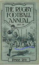 Rugby Football Annual 1937 - 1938