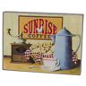 "Beautiful Rustic Primitive Box Sign ""Sunrise Coffee"" Rooster Kitchen home decor"