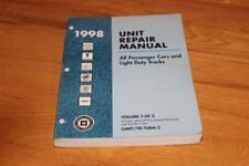 1998 Gm Unit Repair Manual All Passenger Cars & Light Trucks. Volume 2 of a 2 v