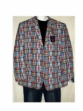 NWT BELK'S SADDLEBRED Lined Patchwork Sports Jacket Sz 46L $140 ~~~FREESHIP~~~