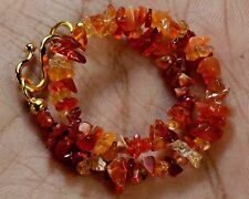 """N-1956/1 Natural Mexican Fire Opal Uncut Chips Nugget Beads 16Ct 7"""" Bracelet $"""