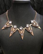 "BAUBLEBAR gold tone statement necklace 18"""