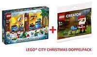LEGO® 60201 CITY Adventskalender + 30573 CREATOR Weihnachtsmann Polybag NEU/OVP