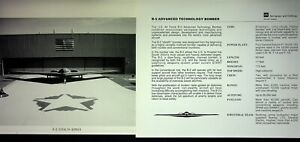 B-2 Stealth Bomber Lot Of 2 Factory Issued Photo Specification Sheets 11x8