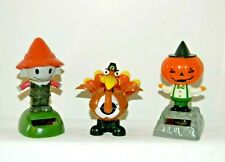 Solar Powered Dancing Toys ~ Scarecrow~Turkey~Pumpkin Figure~Thanksgiving Themed