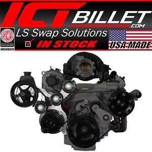 LT Gen V Swap C10 Truck Saginaw Power Steering & R4 A/C Compressor Bracket Kit
