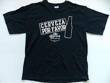 Corona T Shirt Cerveza Por Favor Mens Mexico Beer Black Size Extra Large XL T16