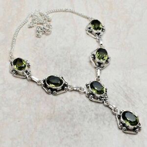 Green Amethyst Ethnic Handmade Necklace Jewelry 42 Gms AN 2580