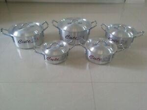 5 Pcs Set  Aluminium  Cooking Pots