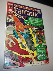 FANTASTIC FOUR ANNUAL #4  1963 1st appearance of GA Human Torch Hulk vs Thing