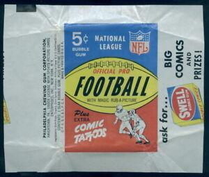 (5321) 1965 Philadelphia Football 5 Cent Wax Wrapper Swell Gum Ad