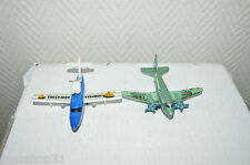 LOT 2 AVION AIRLINER B14 + SEARCH PLANER  MATCHBOX MATTEL  ANNEE 2000