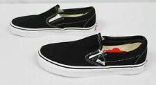 Vans Unisex Solid Classic Slip-On Sneakers BF5 Black/White Size M:6.5 W:8