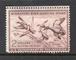 USA 1953 $2.00 Hunting Permit - OG MH - SC# RW20    No Reserve!