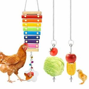 Woiworco 3 Packs Chicken Toys Chicken Xylophone Toys with 8 Metal Keys and Ch...