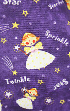 Purple angel fabric ** 100% cotton ** Sold by the metre