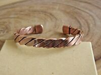 2 Pack Pure Copper Bracelet Heavy 52 gr Copper Arthritis Therapy Large Bracelet