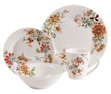 Multicolor Dinner Set Dining Bowls Plates Dishes Mug 16PC Porcelain Dinnerware