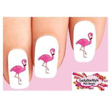 Waterslide Nail Decals Set of 20 - Cute Pink Flamingo