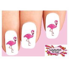 Waterslide Nail Decals Set of 20 - Cute Pink Flamingo