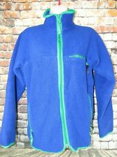 Vintage Patagonia USA Full Zip Fleece Color Block Blue Green Trim Jacket Size M