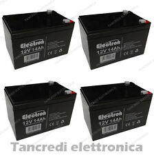 KIT BATTERIE 48V 14Ah GEL/AGM CICLICHE DEEP-CYCLE BICI ELETTRICA - 6 DZM 14