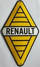 RENAULT CARS. (GARAGE). PORCELAIN EMAILLE ENAMEL SHIELD, SIGN, PLATE. RETRO