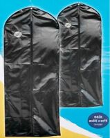 2x Travel Dress Suit Bags Cover Wedding Garment Clothes Storage Carrier Hanging