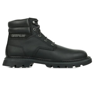 Chaussures Boots Caterpillar homme Quadrate taille Noir Noire Cuir Lacets