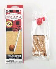 Office Olympics Baaketball Pencil Hoop Set Desktop Game. Ball is an Eraser