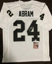 Johnathan Abram Signed Autographed Oakland Raiders Custom Jersey JSA COA 1