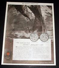 1919 OLD MAGAZINE PRINT AD, EASTMAN KODAK PHOTOGRAPHY, METAL GREW TIRED & BROKE!