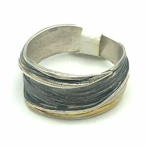 Eva Stone Sterling Silver And Gold Ring