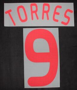 Original FC Liverpool Torres UEFA CL Flock für adidas Away Trikot 2008-2009