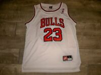 Vintage Nike Team 1990s Chicago Bulls Michael Jordan NBA Jersey Uniform Sz Large