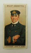 Cigarette Tobacco Card Wills Naval Dress & Badges 1909 # 16 Lieutenant
