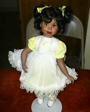 """Paradise Galleries 14"""" Porcelain African-American Nicole Doll"""