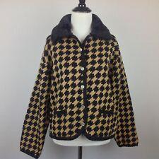 Vintage Tally Ho Cardigan Sweater Womens Small Black Beige