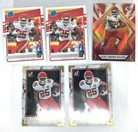 2020 Panini Donruss Clyde Edwards-Helaire RC Lot X5 Rated Rookie, Phoenix Fire