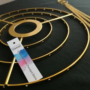 "2Pcs Chandelier Frame Wedding Prty Centerpiece Decoration Hanger 8.6"" W Gold DIY"