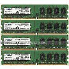 Crucial 8GB KIT 4x2GB PC2-5300 DDR2 667MHz 240Pin UDIMM Desktop Memory For Intel