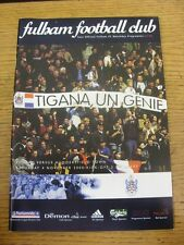 04/11/2000 Fulham v Huddersfield Town  . Item appears to be in good condition un
