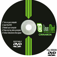 Linux Mint 64bit Full Version DVD 2020 Run Live / Install any Computer PC