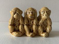 More details for vintage 3 wise monkeys lancaster & sandland pottery