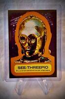 1977 SEE-THREEPIO C-3PO Sticker - Star Wars Vintage Card #5 - Series 1
