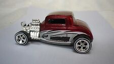 1999 Hot Wheels Red 1932 Ford 3 Window Coupe Custom Real Riders