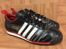 RARE🔥 Adidas Chile '62 Black Leather Red White Sz 9.5 Men's Turf Vintage Shoes