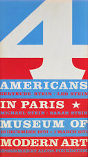 "ROBERT INDIANA ""4 Americans in Paris"" MoMA exhibition poster, 1970 screenprint"