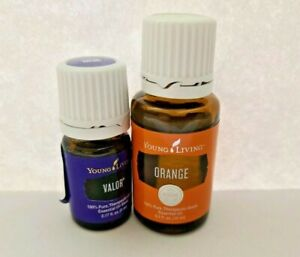 Young Living Bundle VALOR 5 ML + ORANGE 15 ML + BRACELET AND EARRINGS
