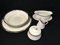"""MIKASA """"Florisse"""" Choice of Serving Pieces White/Black Floral w/Gold Trim & Box"""